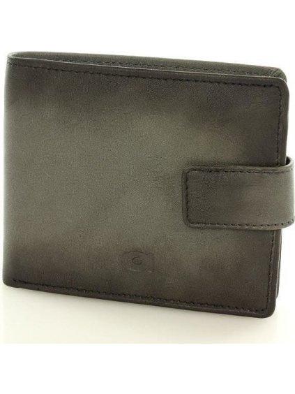 Pánská šedá kožená peněženka (P91b)
