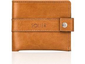 Elegantní pánská peněženka SOLIER - SW05 camel