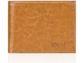 Pánská kožená hnědá peněženka (SW06 camel)