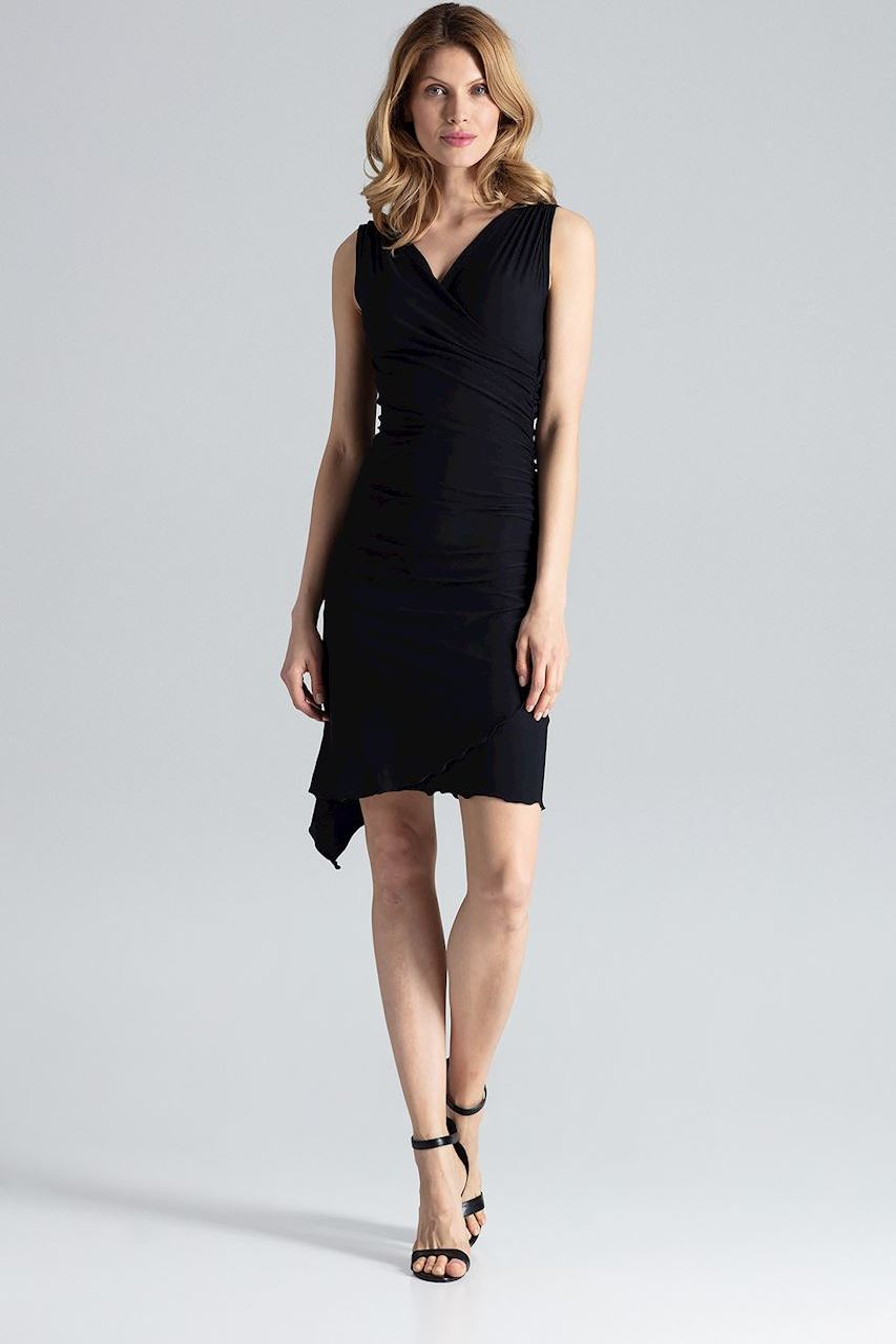 3f11c651ea9 FIGL Černé elegantní šaty M053 velikost  S