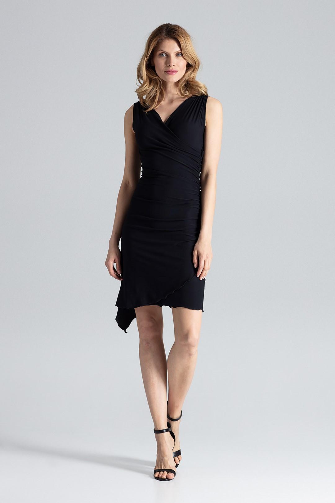 3b5157990b6b FIGL Černé elegantní šaty M053 Velikost  XL