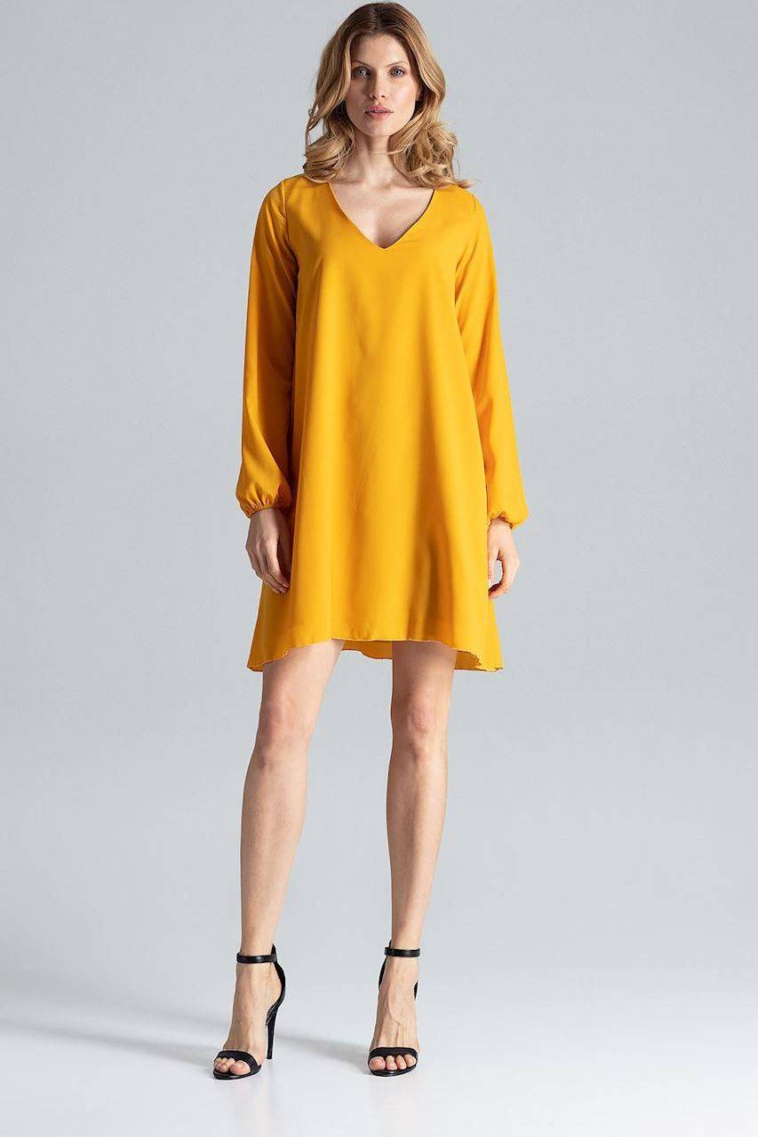 FIGL Žluté oversize šaty M566 velikost: S/M, odstíny barev: žlutá