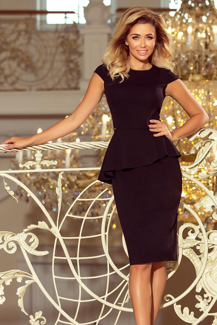 NUMOCO Elegantní šaty s volánem 192-3 Velikost  2XL 886b8f4c7d9