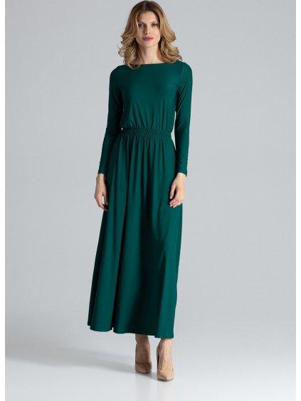 Dlhé zelené šaty M604