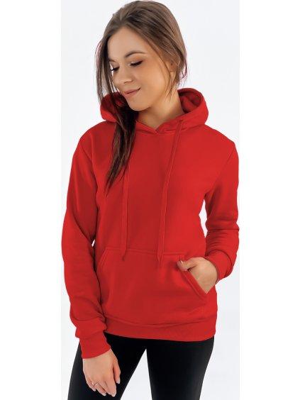 Červená dámska basic mikina (by0175)