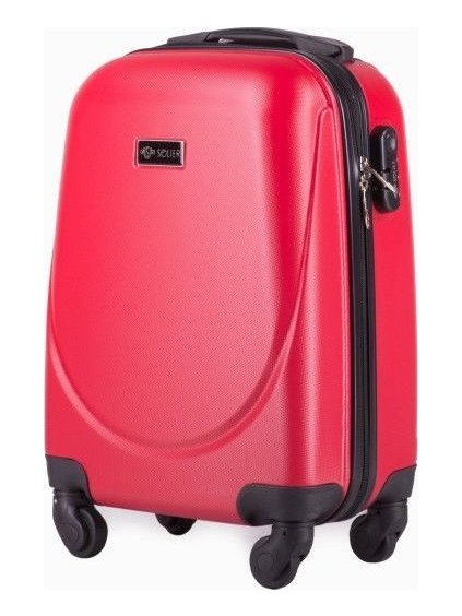SOLIER LUGGAGE ČERVENÝ CESTOVNÍ KUFR (STL310 RED) - SKL (Veľkosť S (33 litrů))