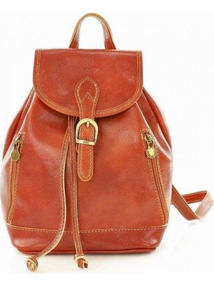 VALENTINO Kožený batoh hnedej farby (pl33a)