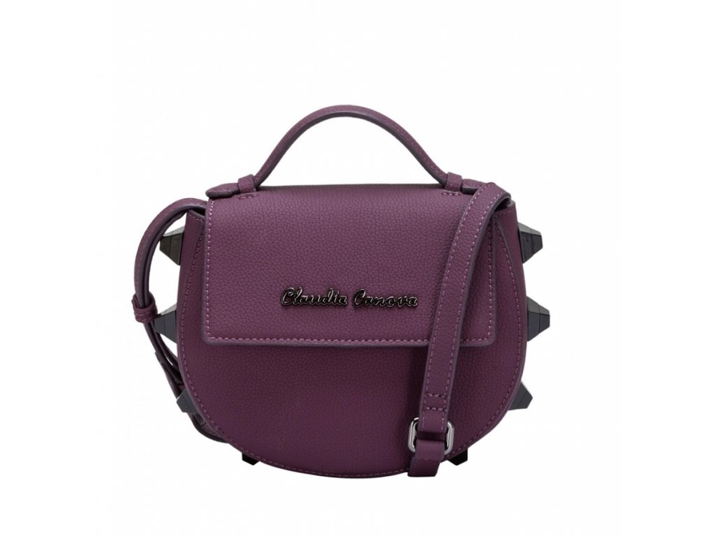 Malá fialová kabelka Claudia Canova Regal