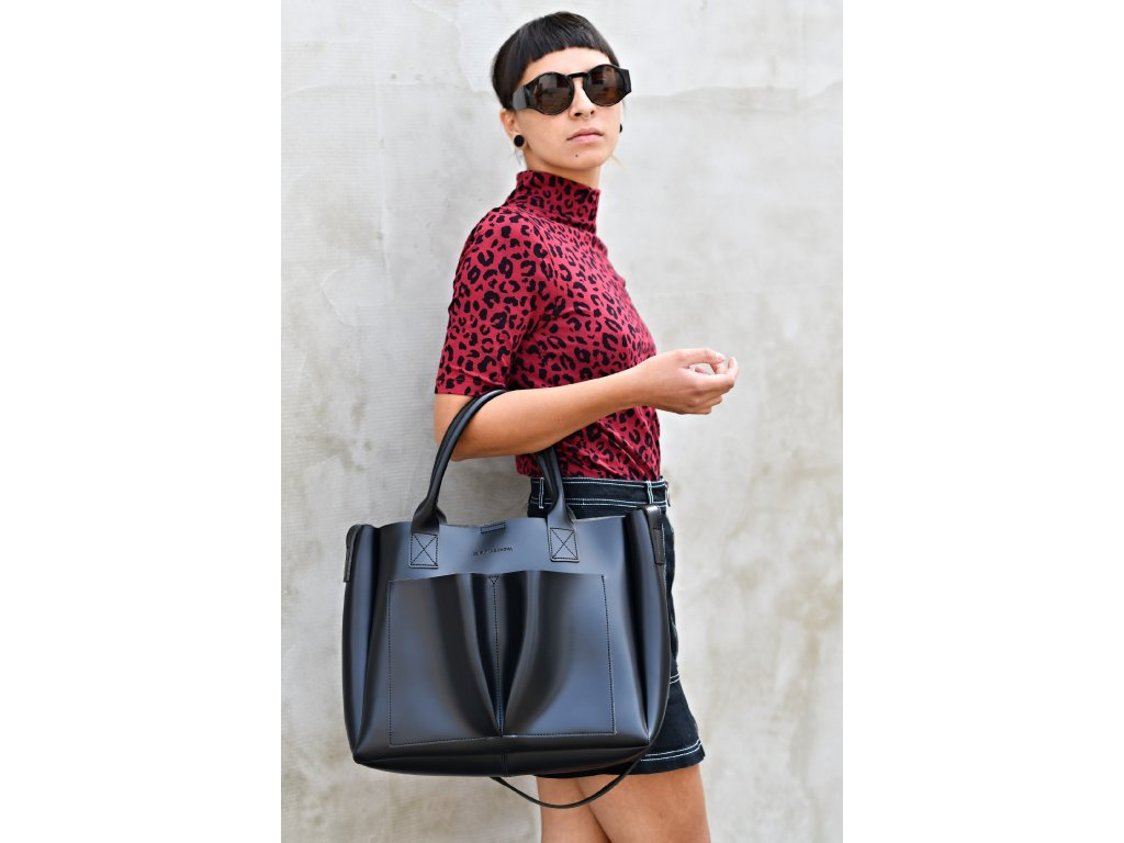 Velká černá kabelka Claudia Canova Megan
