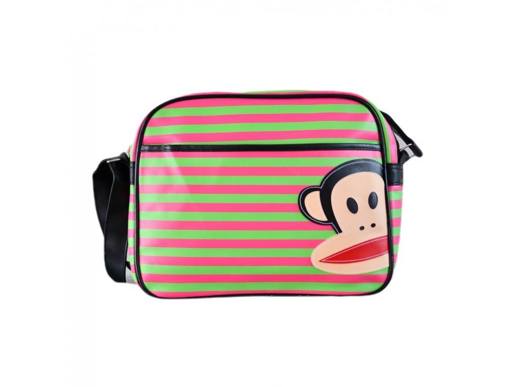 Zeleno-růžová taška Paul Frank