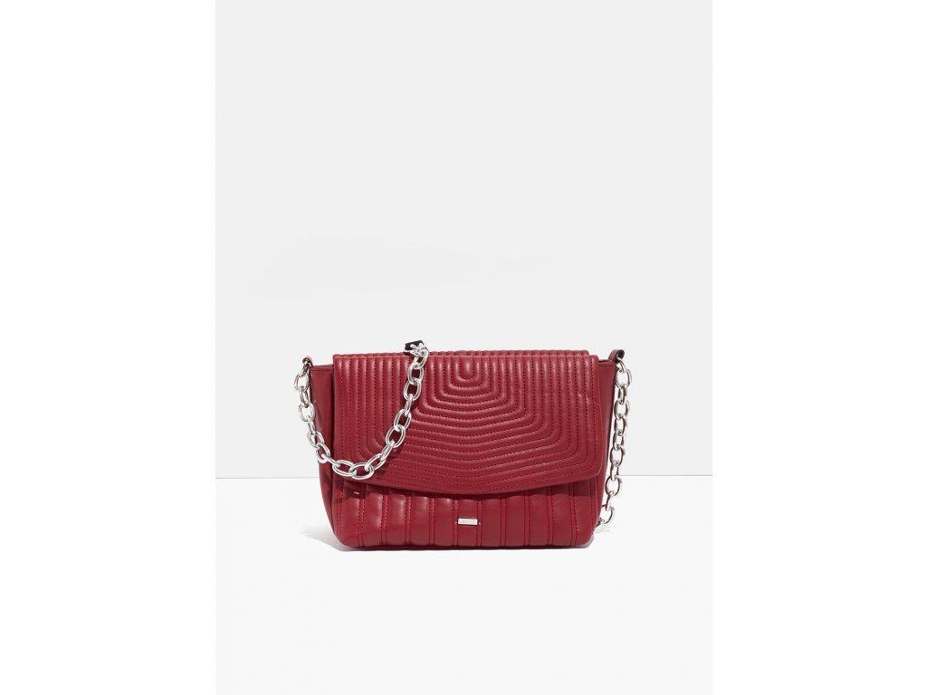 Červená prošívaná kabelka Nalí