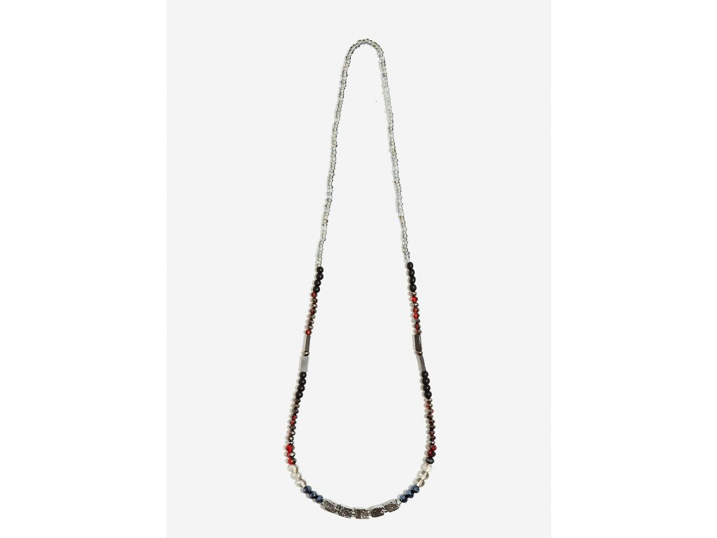 Korálkový náhrdelník NALÍ CUBI červený