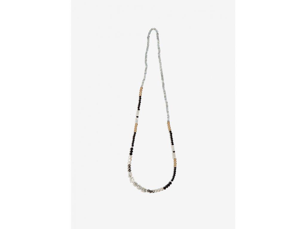 Korálkový náhrdelník NALÍ CUBI stříbrný