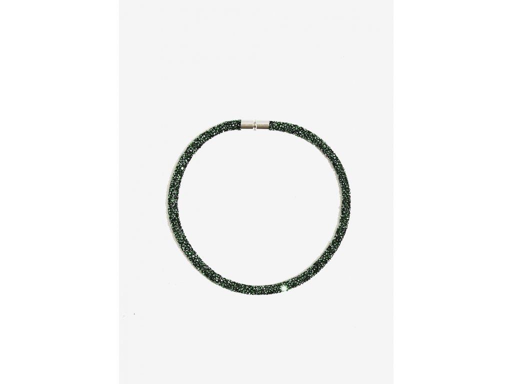 Třpytivý náhrdelník NALÍ CRISTALLI zelený
