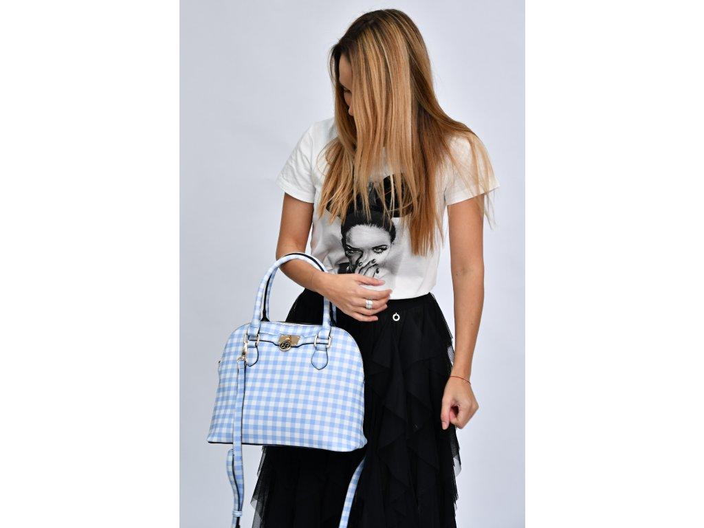 Modro-bílá kabelka Bessie London