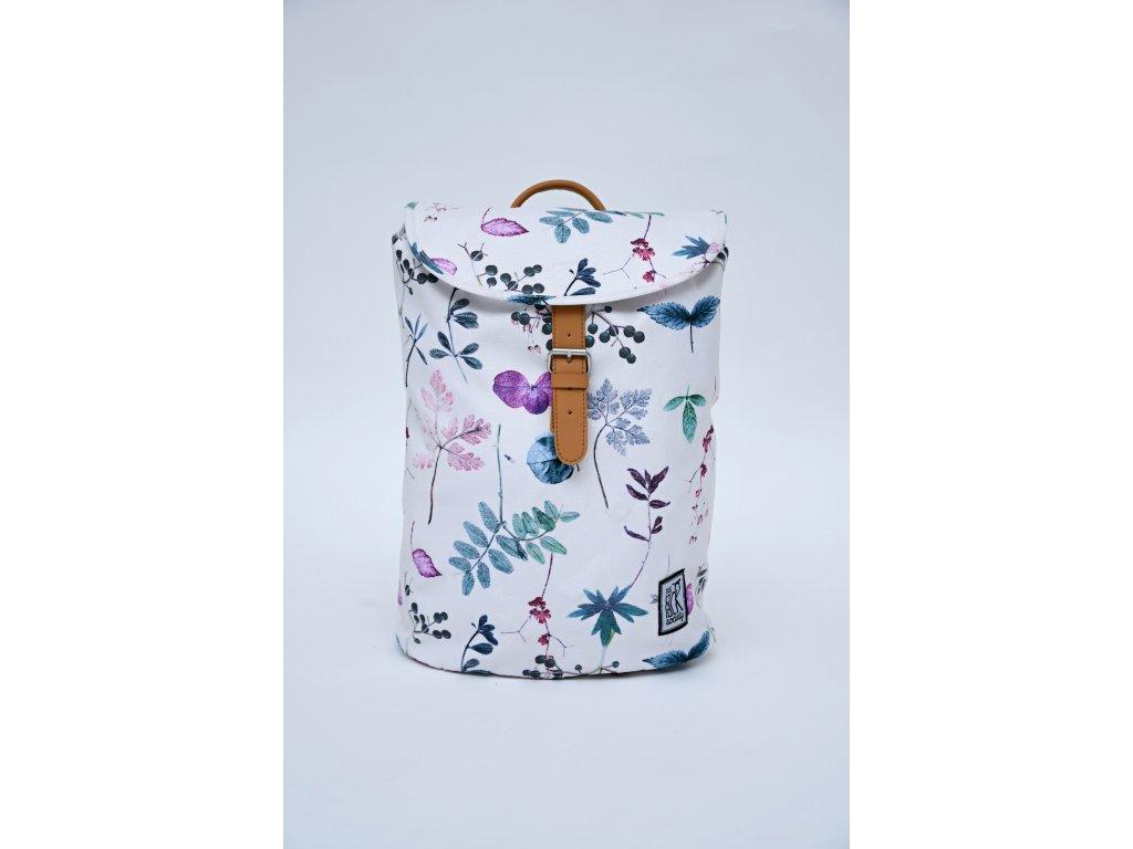 Bílý recyklovaný batoh THE PACK SOCIETY Herbs