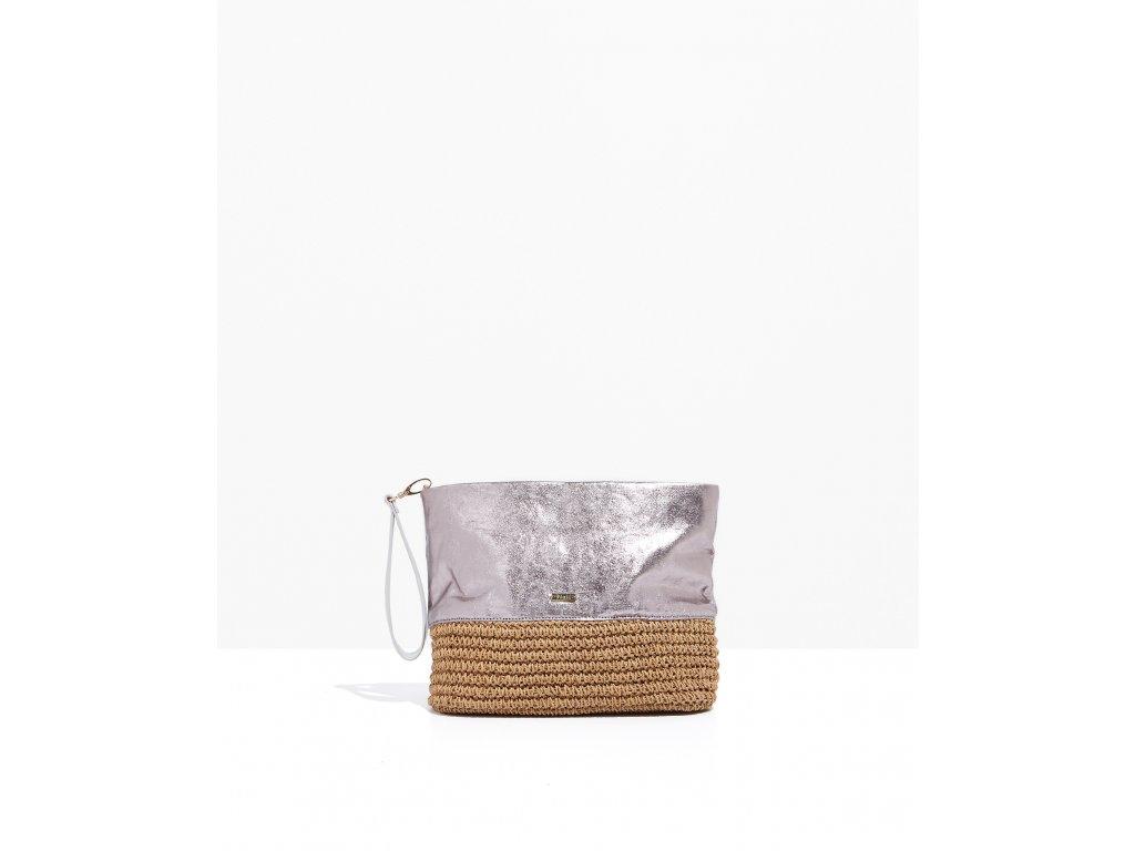 Stříbrně růžová kabelka Nalí Paglia