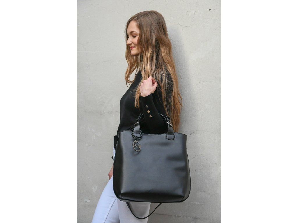 Černá kabelka PURE LONDON Silver