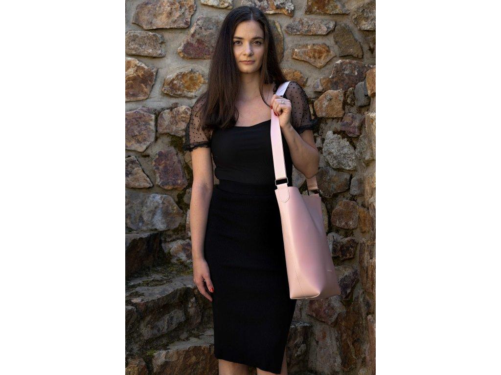 Světle růžová kabelka Claudia Canova Larger