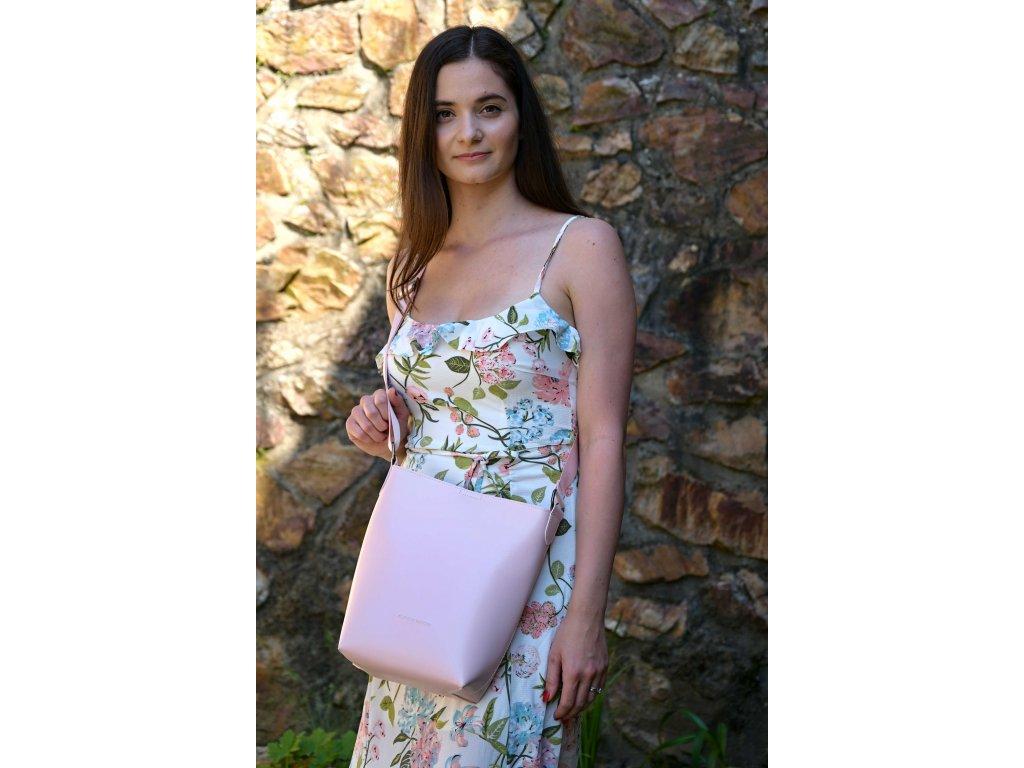 Růžová kabelka Claudia Canova Smaller