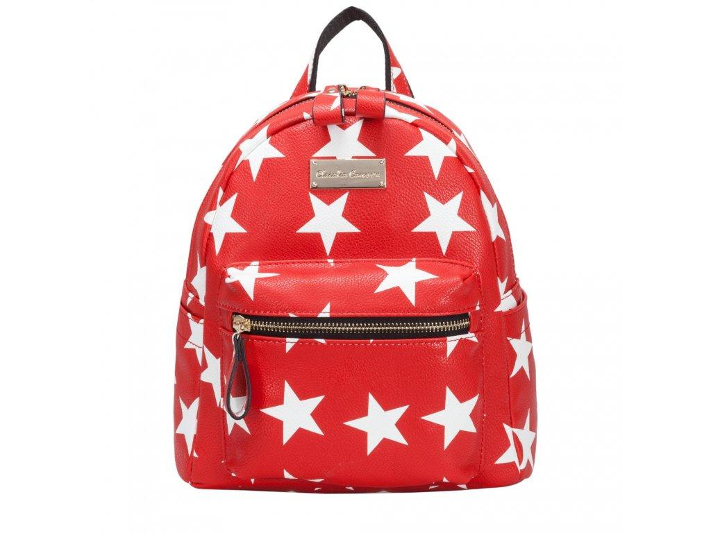 Červený batoh Claudia Canova Starlight