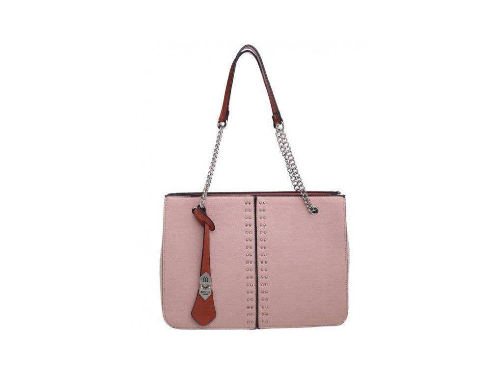 Pudrově růžová kabelka Bessie London
