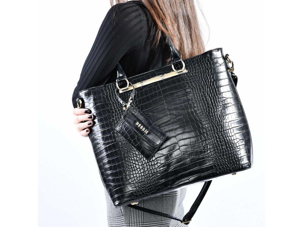 Velká černá kabelka Bessie London Claire