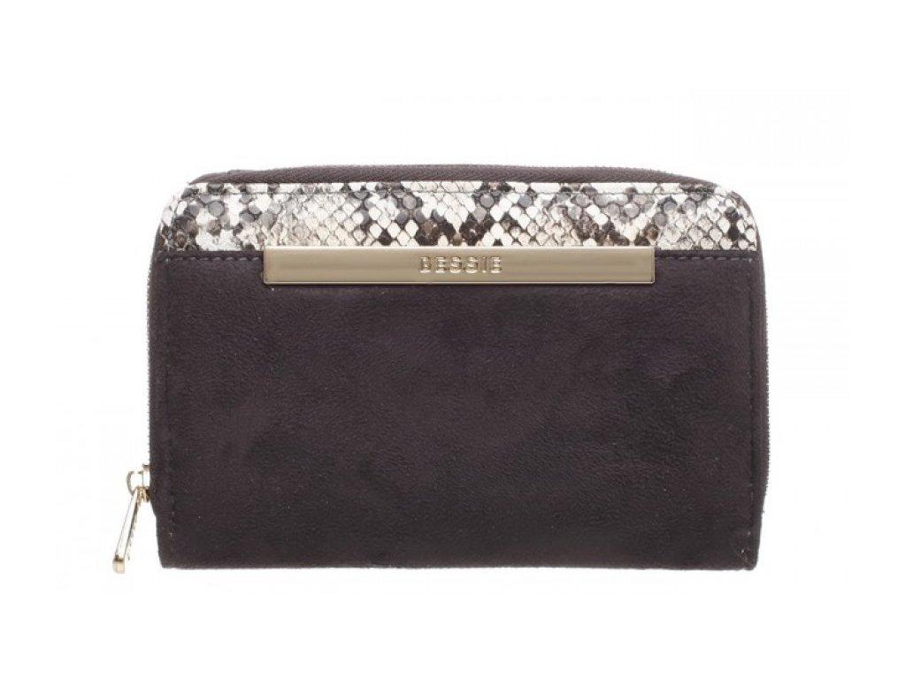 Šedá peněženka Bessie London Ingwer