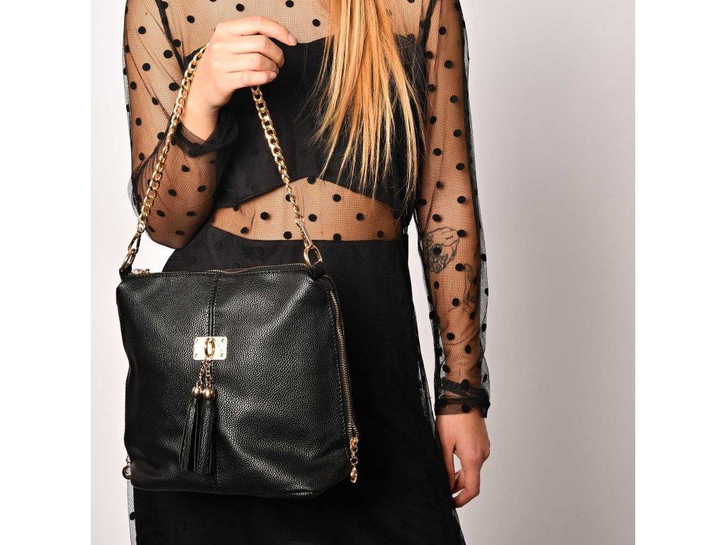 Černá kabelka Gessy London