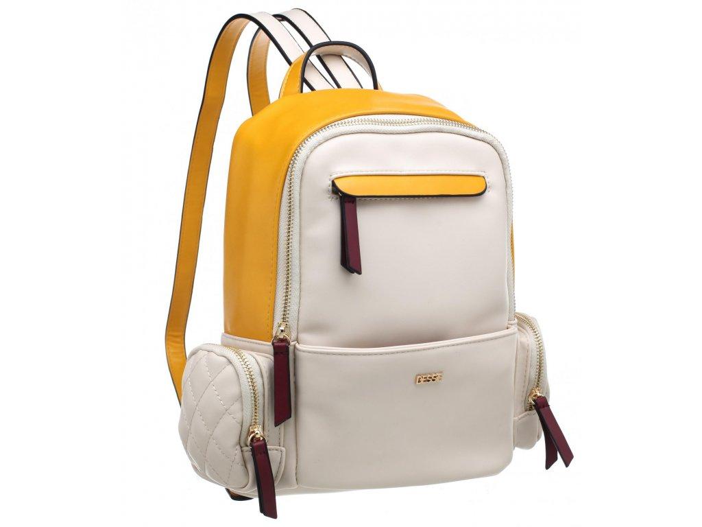 Béžový batoh Bessie London Peta