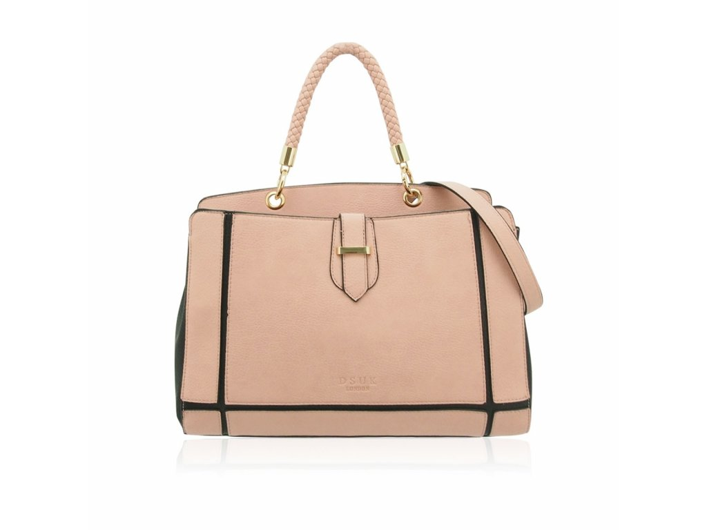 Růžovo-černá kabelka DSUK