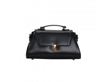 Černá kožená kabelka LYDC London