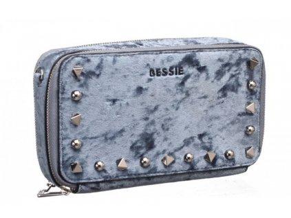 Šedá peněženka Bessie London Vivienne