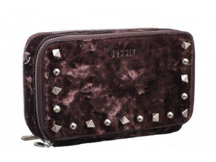 Hnědá peněženka Bessie London Vivienne