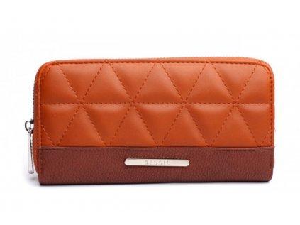 Hnědá peněženka Bessie London Shape