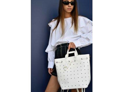 Bílý batoh Claudia Canova Maja