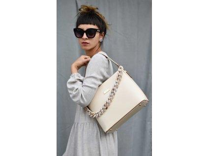 Béžová kabelka Bessie London Exclusive