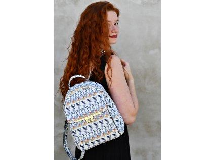 Bílý batoh Bessie London Exclusive