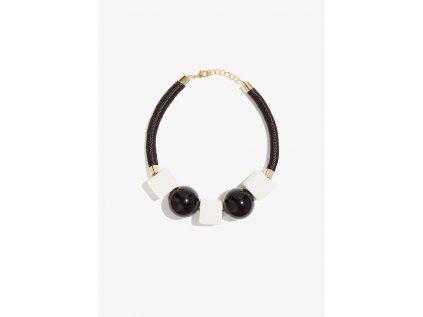 Mohutný náhrdelník NALÍ ELEMENTI černobílý