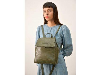 Olivový batoh Claudia Canova Bethy