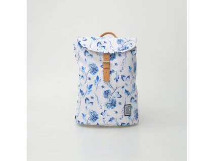 Recyklovaný batoh THE PACK SOCIETY Blue Flowers