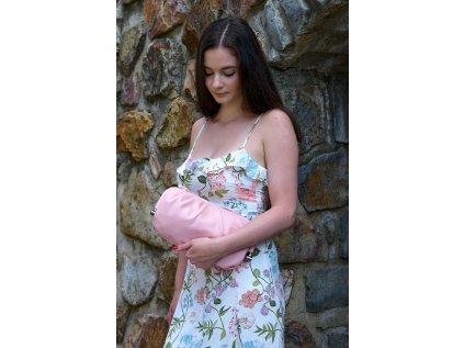Světle růžová kabelka Claudia Canova Single Strap