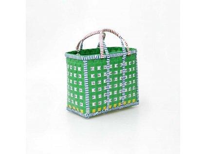 Zelený recyklovaný nákupní koš Mowgs
