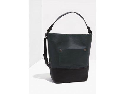Velká černo-zelená kabelka Nalí