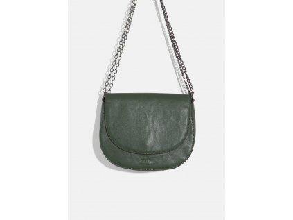 Menší lahvově zelená kabelka Nalí
