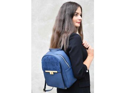 Tmavě modrý batoh Bessie London Wick