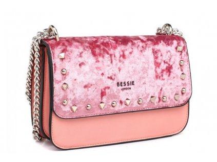 Růžová kabelka Bessie London Addison