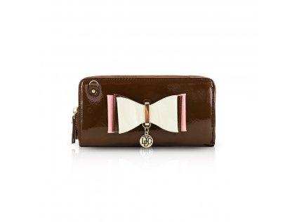 Lakovaná peněženka LYDC London Bow Exclusive