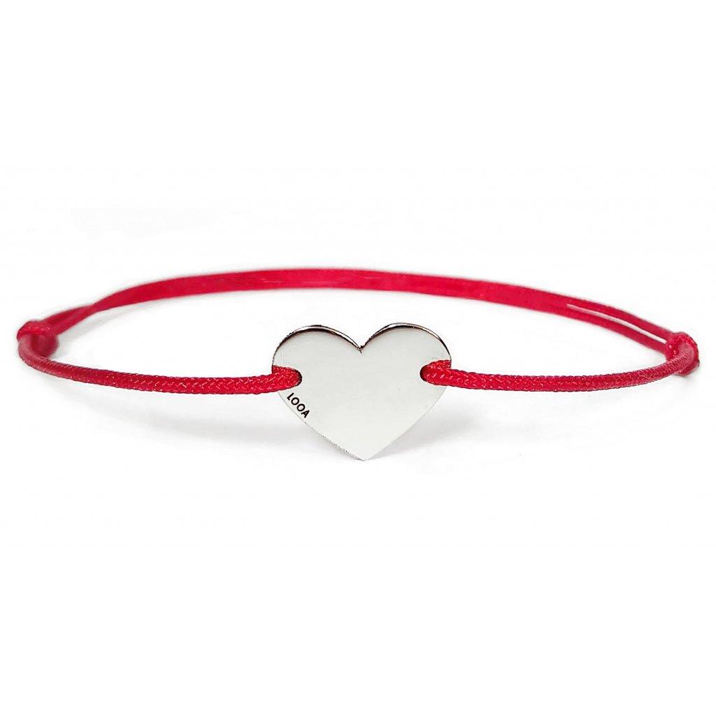 Srdíčko LOOA,stříbro Ag, červená