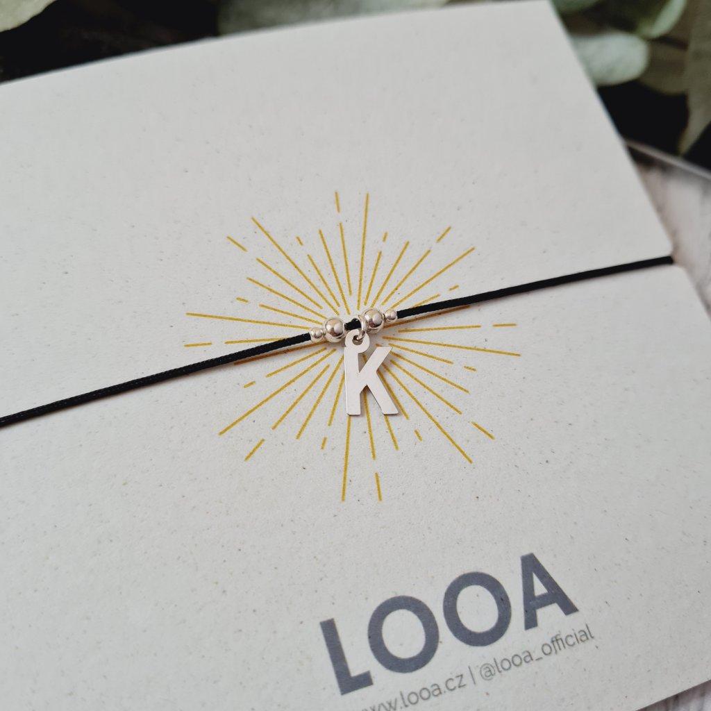náramek s písmenem looa šperky stříbro